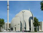 تجمع حامیان و مخالفان اردوغان همزمان با افتتاح بزرگترین مسجد اروپا در آلمان
