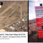 """حمایت فیسبوکی ۱.۵ میلیون نفر از کمپین حمله به پایگاه ارتش آمریکا در""""منطقه ۵۱""""/ ارتش هشدار داد"""